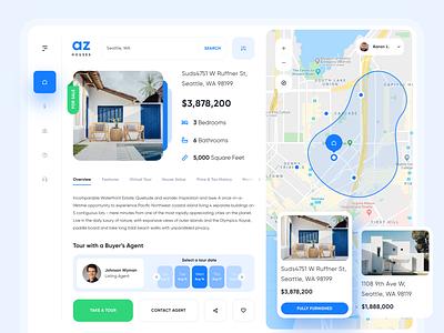 AZ Houses | Web App Design website uiux realestate property management house ui design web app design dashboard ui dashboard app dashboard property real estate
