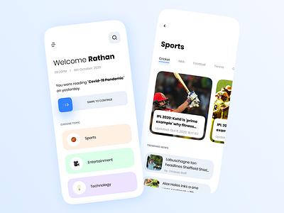 News App Design | Concept clean app design clean app white uxdesign ux user interface minimalist minimal mobile app design app design ui design news app news