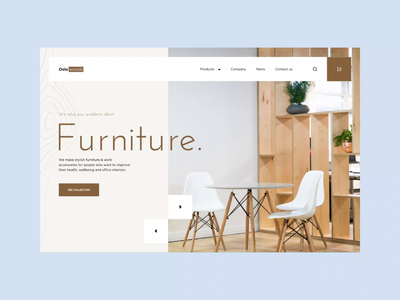 Oslo Furniture webpage | Animation motion ui protopie ui design ecommerce online store web design furniture website website furniture