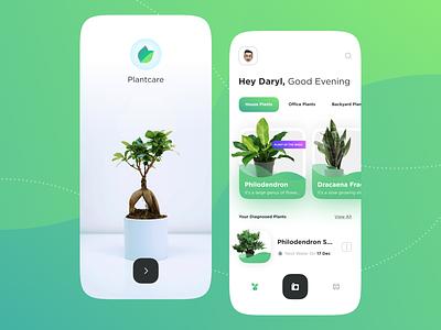 PlantCare App 🌱 - Part 1 nature app user interface ui design mobile app plant app plant
