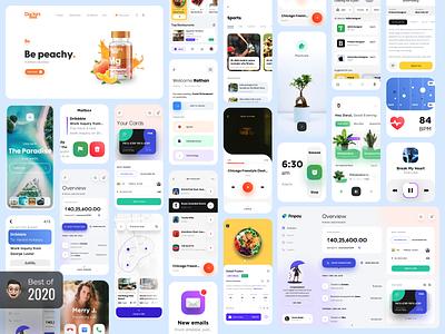 Best of 2020 🔥 ux ui webdesign 2020 happy new year ui design best of 2020