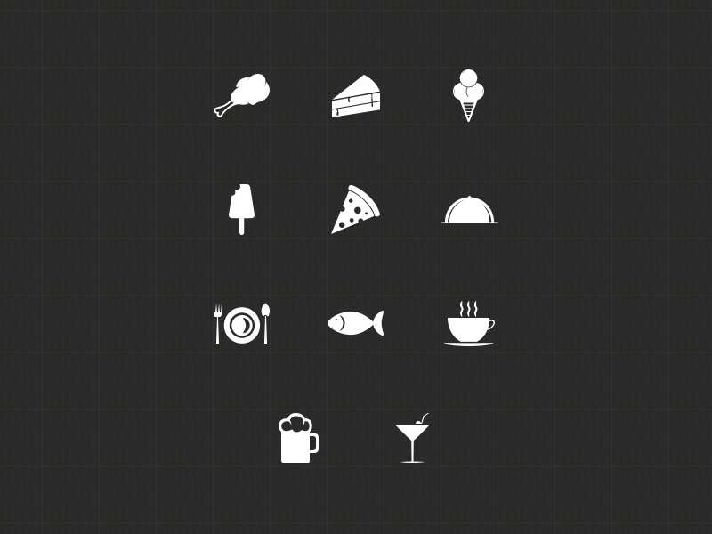 Food Icons - FREE !!! icons pixel perfect food chicken meal beer drinks free psd iconset