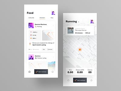 Workout App UI Design 🔥 uiux ux design uidesign cycling running fitness tracker app design fitness workout app fitness app