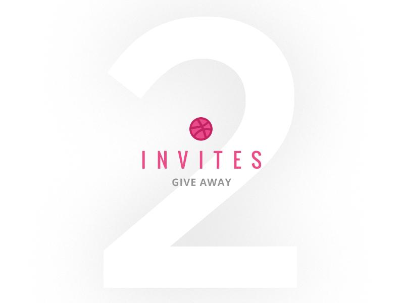 2 Dribbble Invites color pink icon graphic invitation invite dribbble