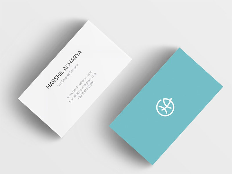 Personal Visiting Card branding card ui app mobile icons design uidesign minimal white clean professional