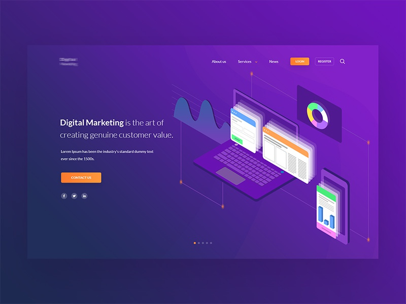 Digital Marketing Homepage UI landingpage minimal design website web ui ux app color icon creative