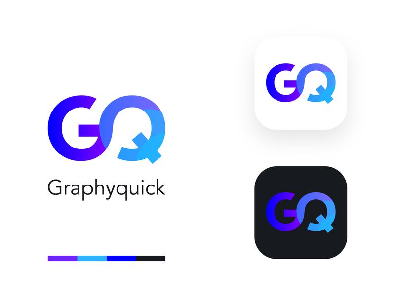 GraphyQuick Logo Design brand branding brochure color ui  ux design grapefruit dribbble stationary photoshop psd illustration graphic design graphic logo logo design
