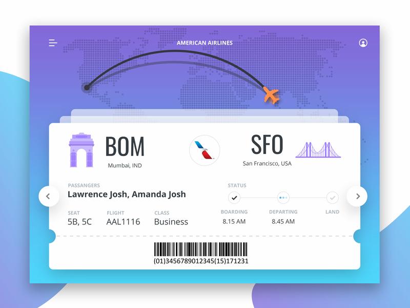 Flight Web UI flight app design app ui design website design website ui