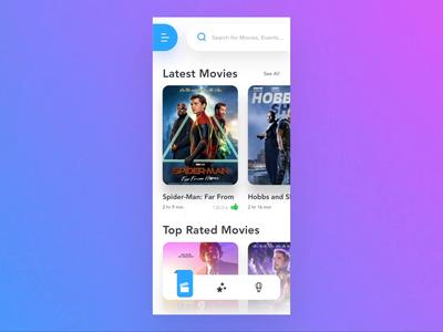 Booking App Concept - Animation part 1 cinema movies booking prototype ux design ui design animation app ux ui design minimal