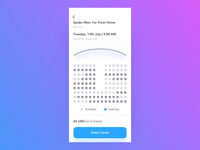 Seat selection & payment - Animation