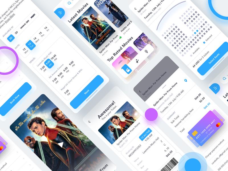Cinema Booking App design dribbble movie app cinema uiux uidesign user interface ui design mobile app app design minimal ui