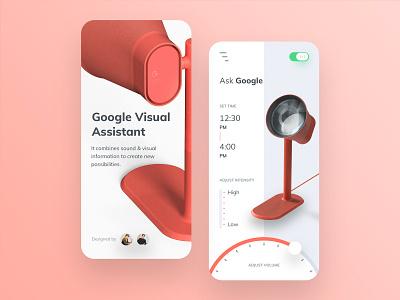 Google Visual Assistant App Design lamp userinterface mobile app design mobile app uiux ux design uidesign ui