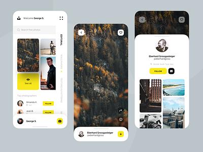 Unsplash App UI Design Concept mobile ui app minimal photo unsplash uidesign uiux design ui