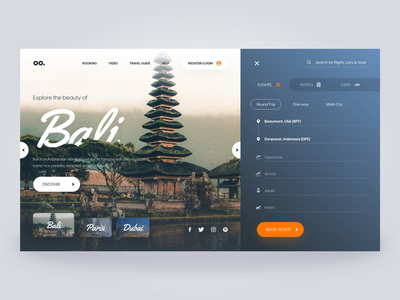Webpage Design for Travel Company travel websitedesign webpage uiux ui uidesign