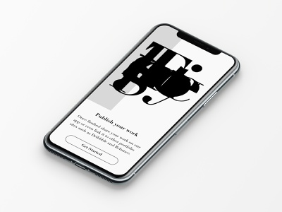 Daily Ui 23 app onboarding mobile typography dailyui ux ui design