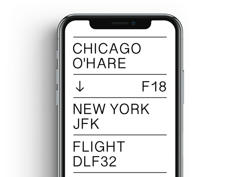 Daily Ui 24 boarding pass mobile typography dailyui ux ui design