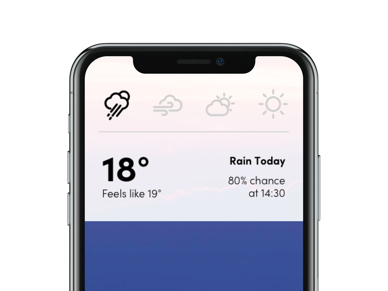 Daily Ui 37 dailyui037 notification weather forecast weather app mobile dailyui ux ui design