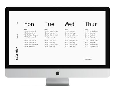 Daily Ui 38 layout calendar desktop typography dailyui ux ui design