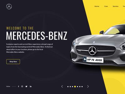 Car Banner typogaphy illustration ui home page banner creative banner creative banner design