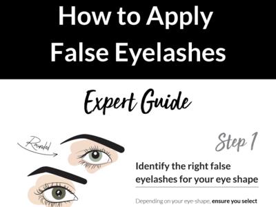 Apply false eyelashes