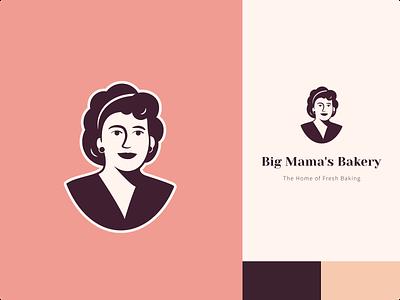 Big Mama's Bakery - Logo design food bakery graphic design logo branding design