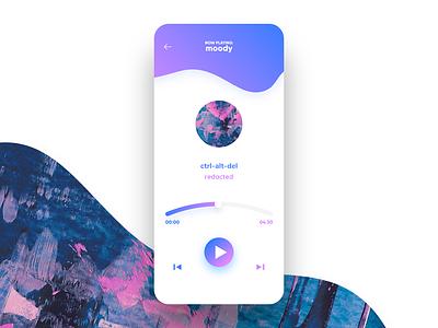 Daily UI Challenge - Day 9 - Music Player ux ui music app sound radio music player music dailyui 009 dailyui009 dailyui
