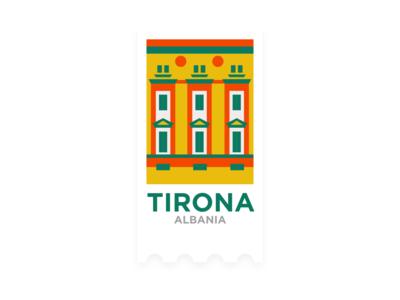 Hometown Sticker - Tirana, Albania