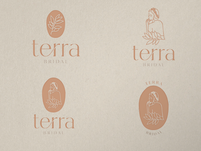 TERRA BRIDAL floral illustration illustrations brand identity branding and identity earthy bridal logo logo wedding branding