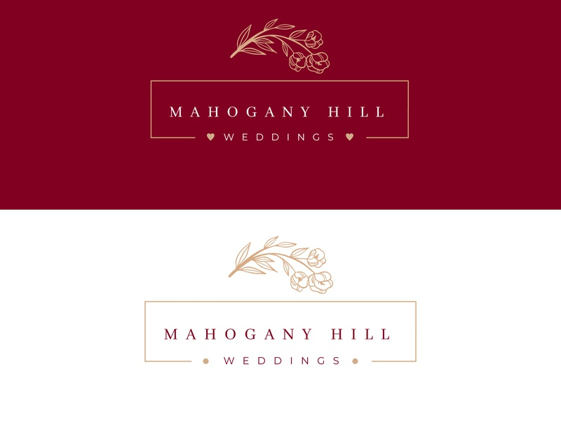 Mahogany Hill Weddings logo graphicdesign minimalist logo minimalist wedding planner logo wedding logo feminine logo feminine branding design brand identity brand design branding brand logodesign logotype logos logo