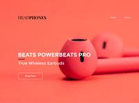 Headphone webpage