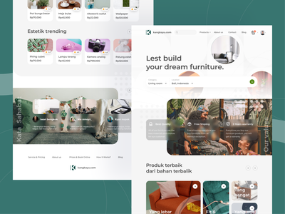 Kang Kayu Website #Exploration minimalism home minimal ecommerce uidesign clear website web clean exploration illustration uxresearch ios app interfaces design ux ui