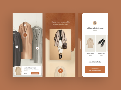 Find the outfit in store - concept for fashion brands