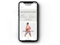 Concept for Pull&Bear - visual search animation