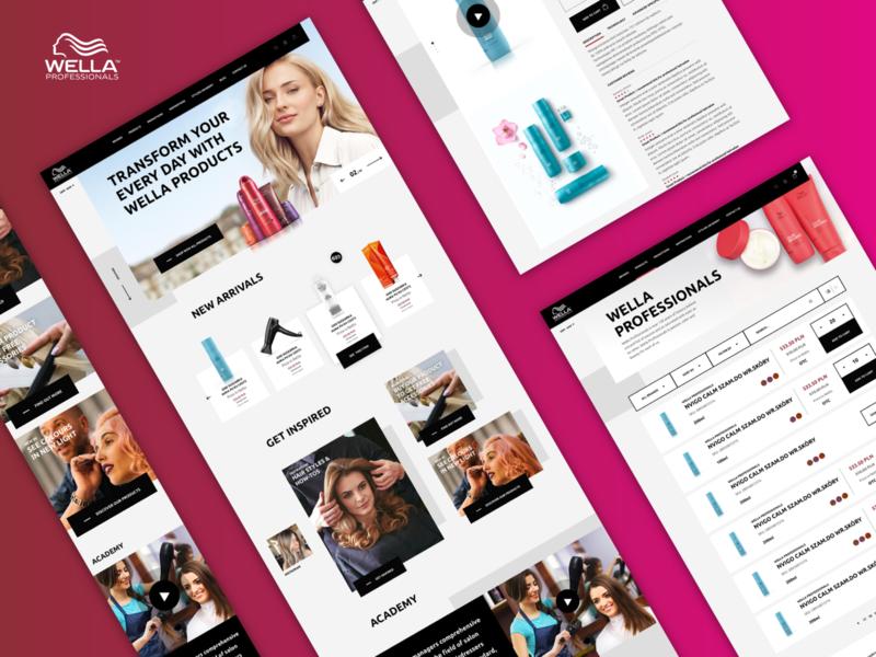 PWA Concept for Wella Store product progressive web app design ecommerce divante mobile uiux mobile ui mobile pwa cosmetics hair care wella