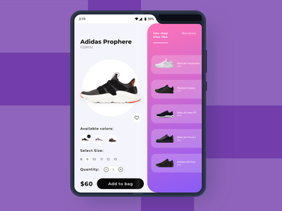 PWA e-Commerce Concept - Samsung Galaxy Fold jd nike adidas fold sketchapp samsung galaxy fold shoes ui product concept ecommerce design clean progressive web app design ecommerce pwa divante