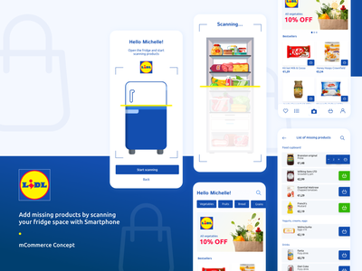 Mobile App concept for Lidl with AI use artificialintelligence ai ui ecommerce design design divante mobile first mobile design mobile app mobile ui mobile shopping app shopping cart customer journey web design progressive web app pwa ecommerce lidl