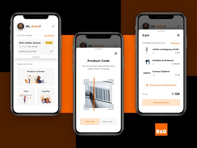 Optimizing experience in store with the new UI design hardware customer journey mobile payment visual search mobile app app ux ui design ecommerce design vector ecommerce divante