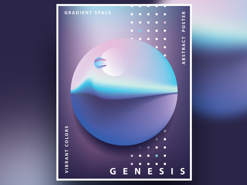 Genesis Poster Templates contemporary vibrant color planet universe space graphic design genesis poster templates template poster art poster design gradient design ui minimalism abstract colorful geometric illustration vector
