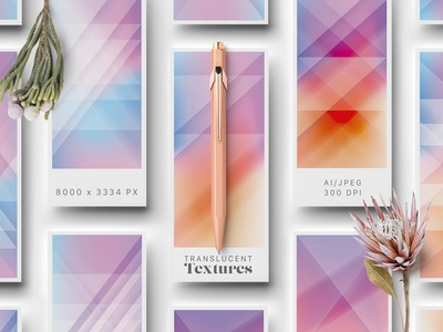 Translucent Textures minimalism branding backgrounds textures wallpapers translucent gradient colors ui abstract colorful geometric illustration vector