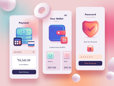 3D Fintech Icon Collection graphic resources ui design user interface vector icons vector illustration cryptocurrency crypto wallet technology payment finance fintech app fintech icons icon design colorful icons skeuomorphic 3d icon set 3d icons 3d art