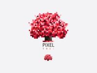 Red Pixel Tree