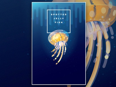 Spotted Jellyfish liquid style spotted jellyfish jelly fish colors animal illustration vector ocean medusa underwater