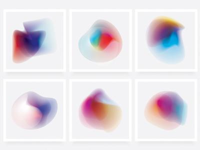 Gradient Energy- 30 Vibrant Shapes gradient shapes vibrant colors abstract shapes gradients nebula futuristic colorful overlays illustrations vectors