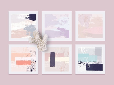 Womanly  Artistic Vector Textures brush strokes colors feminine artistic pastels contemporary modern textures illustrations vectors abstract