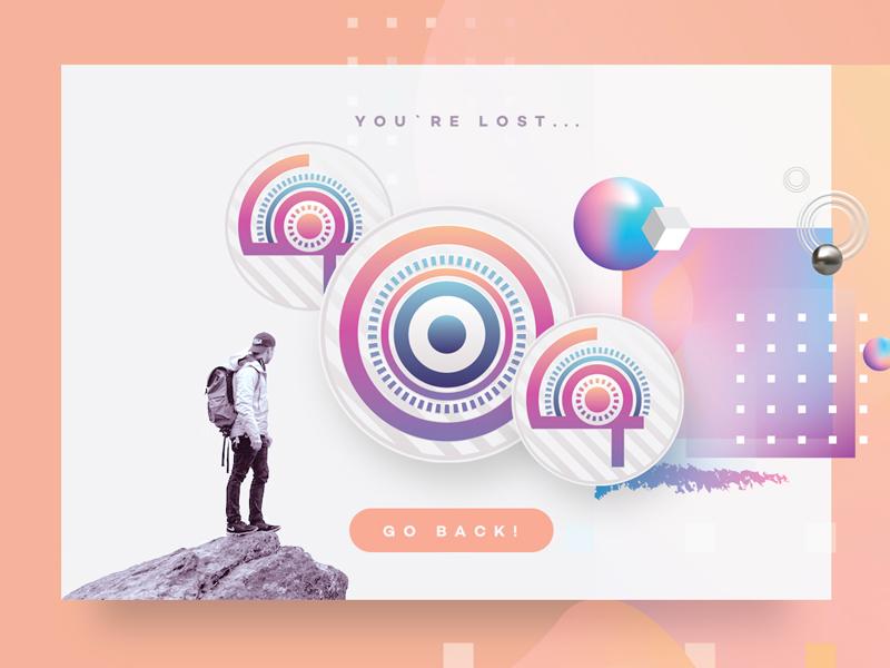 The Game Svg Color Font 404 page color font svg font vector colors colorful gradients ui design web typography typeface