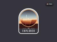 Space Logo Badges Creator Freebie