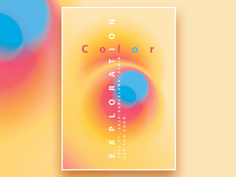 Color Exploration Poster Templates Collection graphic resources modern design blurry vibrant colors template design branding design illustration abstract vector poster collection minimalism gradient poster