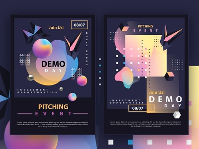Genx Flyer Templates vibrant colors abstract design fluid gradient 3d poster design futuristic editable flyer flyer design flyer template design colors abstract geometric illustration vector