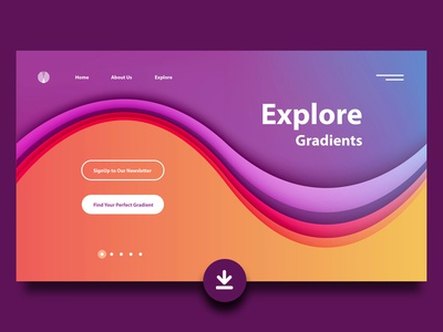 Landing Page Gradients Freebie freebie free papercut colors colorful gradients user interface header illustration header design hero image landing page website design webdesign minimalism ui illustration vector