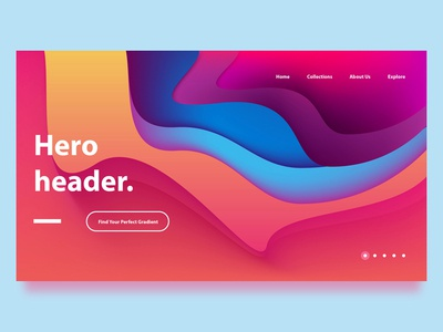 Landing Page Gradients fluid design papercut vibrant header design hero image hero banner page landing concept website web design design ui branding abstract colors colorful illustration vector gradients